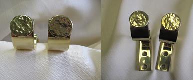 Custom Brass Drapery Brackets