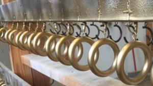 Gold Drapery Rings