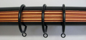 Wood Rod with Metal Rings