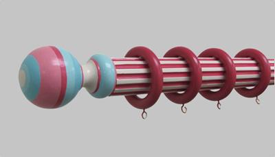 Custom Drapery Rod and Finial