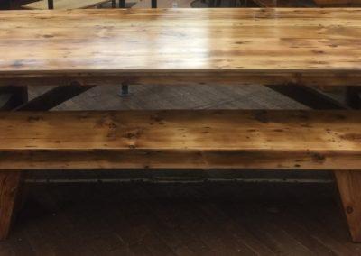 """""""Turnbuckle Farm Table w/ Bench"""