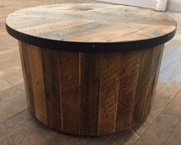 Rustic Cylinder Table