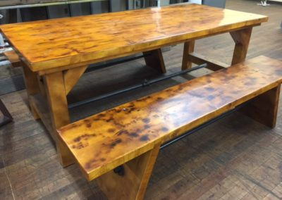 Scorched Wood Table