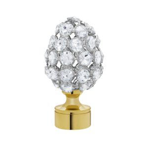Crystal Faceted Egg Finial