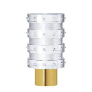 Acrylic Cylinder with Rings Finial