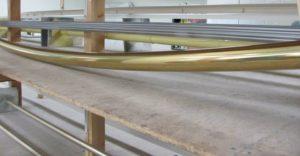 Curved Brass Drapery Rod