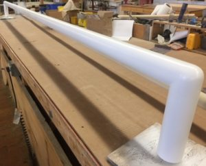 Long Drapery Rod with Elbows