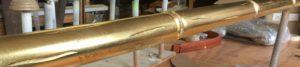 Gold Bamboo Drapery Rod