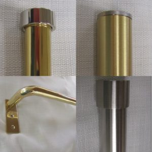 Brass & Stainless Steel Drapery Hardware