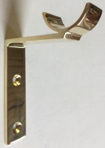 Custom By-Pass Bracket in Polished Brass